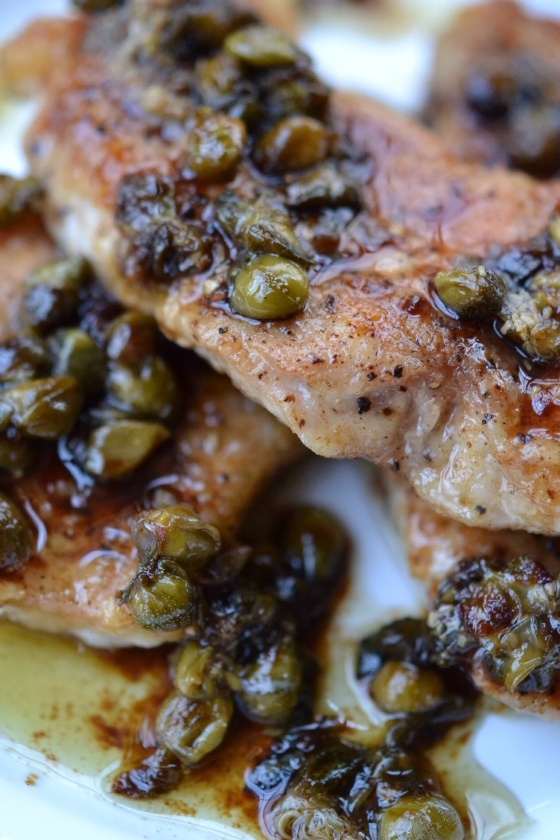 Sweet Tea Pork Piccata