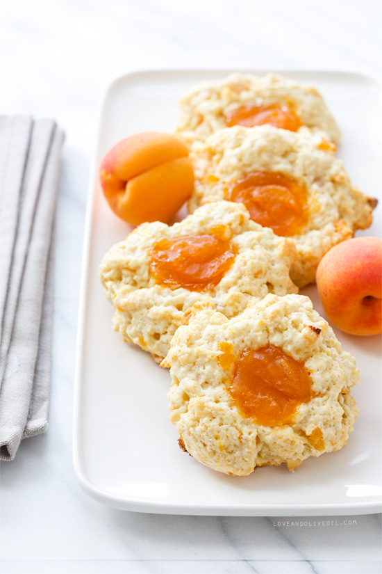 Apricots and Cream Thumbprint Scones | Faith, Hope, Love, and Luck Survive Despite a Whiskered Accomplice