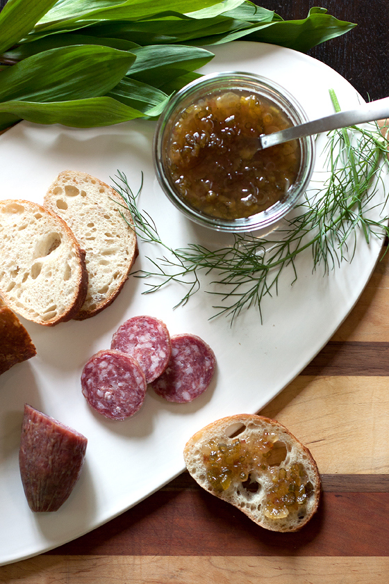 Candied Ramp and Fennel Jam | Faith, Hope, Love, and Luck Survive Despite a Whiskered Accomplice