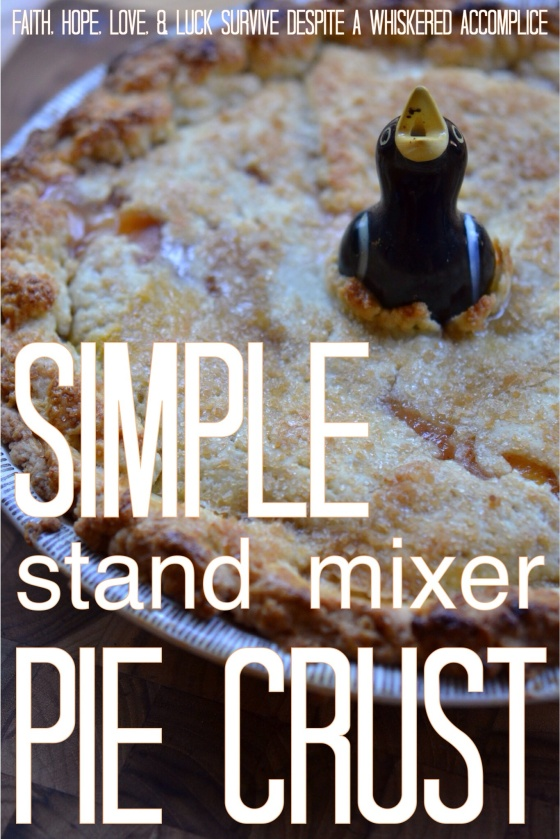 Simple Stand Mixer Pie Crust | Faith, Hope, Love, and Luck Survive Despite a Whiskered Accomplice
