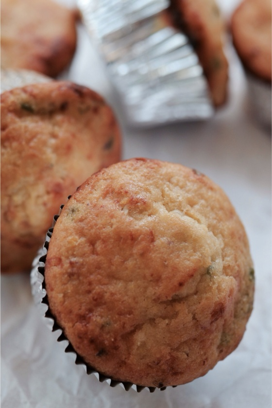 Chipotle Cheddar Cornbread Muffins | Faith, Hope, Love, and Luck Survive Despite a Whiskered Accomplice