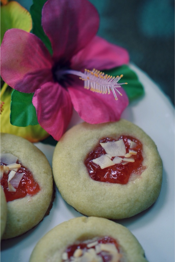 Tropical Cherry Coconut Shortbread| Faith, Hope, Love, and Luck Survive Despite a Whiskered Accomplice