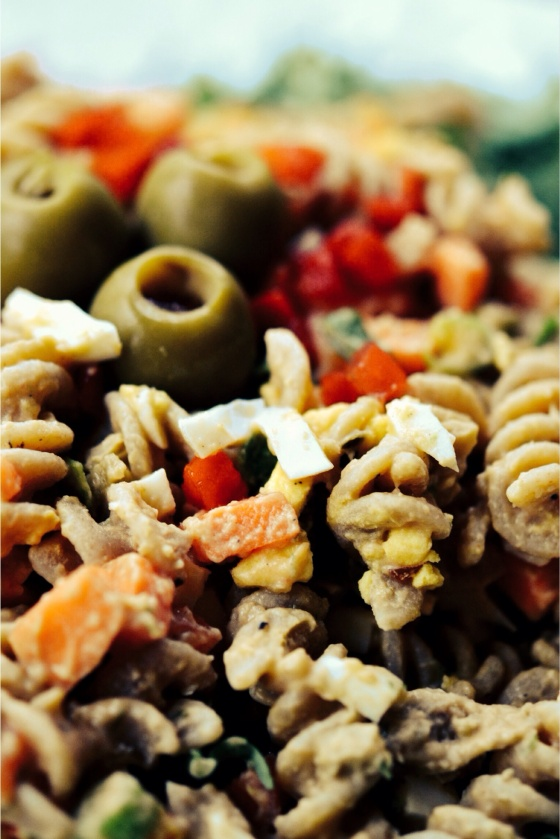 Pasta Salad with Cannellini Thousand Island Dressing | Faith, Hope, Love, and Luck Survive Despite a Whiskered Accomplice