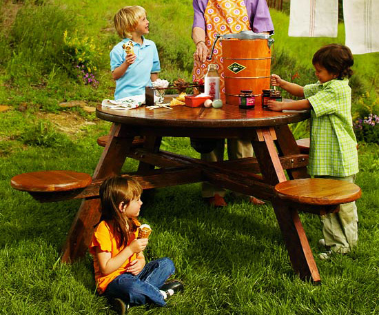 Inverness Picnic Table | Faith, Hope, Love, and Luck Survive Despite a Whiskered Accomplice