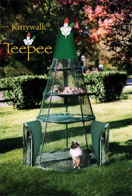 Kittywalk Teepee | Faith, Hope, Love, and Luck Survive Despite a Whiskered Accomplice