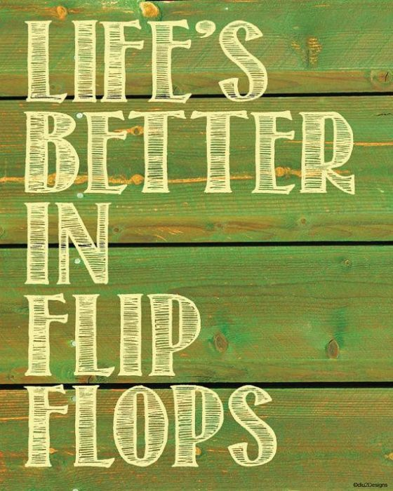 Life's Better in Flip Flops | Faith, Hope, Love, and Luck Survive Despite a Whiskered Accomplice