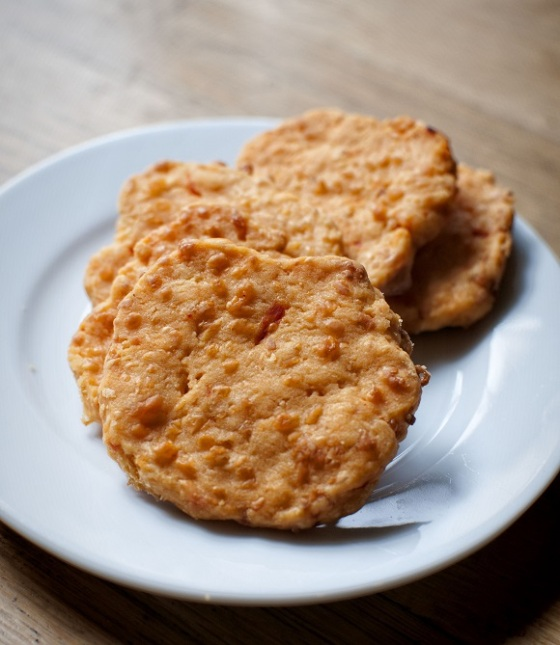 Pimento Cheese Cracker Crisps | Faith, Hope, Love, and Luck Survive Despite a Whiskered Accomplice