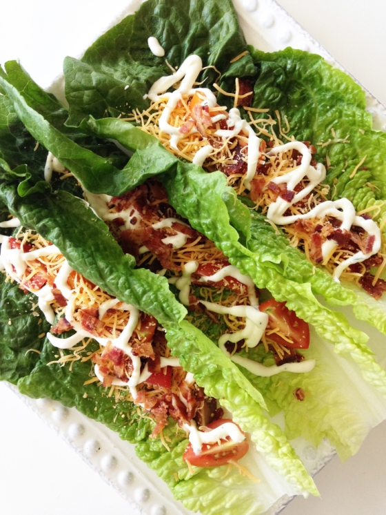 BLT Lettuce Wraps | Faith, Hope, Love, and Luck Survive Despite a Whiskered Accomplice