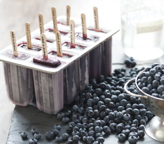 Blueberry Moonshine Popsicles | Faith, Hope, Love, and Luck Survive Despite a Whiskered Accomplice