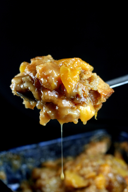 Butterscotch Caramel Peach Cobbler | Faith, Hope, Love, and Luck Survive Despite a Whiskered Accomplice