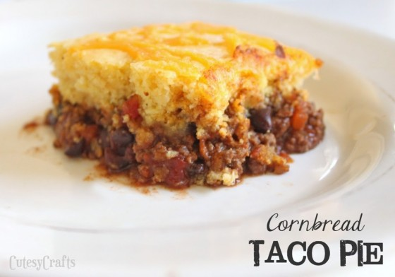 Cornbread Taco PIe | Faith, Hope, Love, and Luck Survive Despite a Whiskered Accomplice