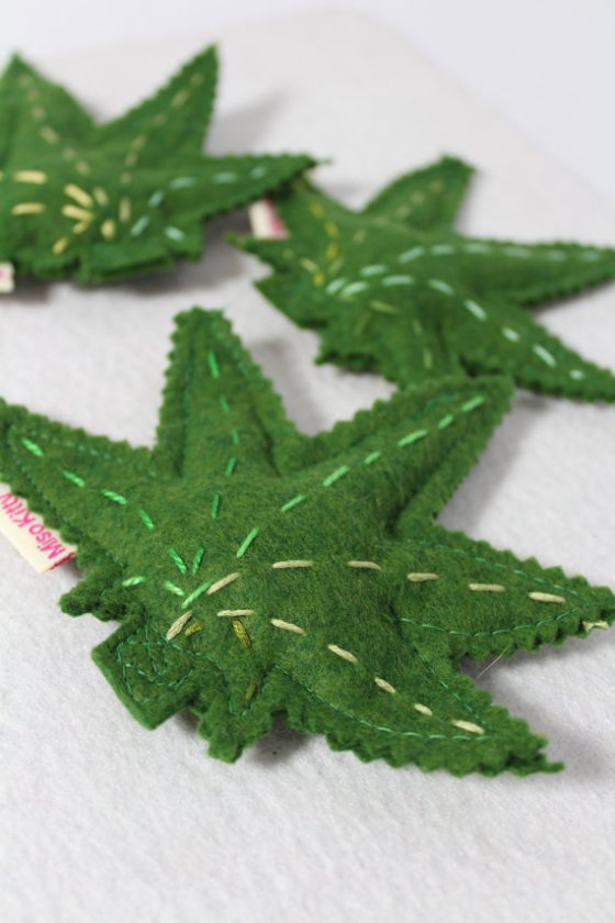 Marijuana Leaf Catnip Toys   Faith, Hope, Love, and Luck Survive Despite a Whiskered Accomplice