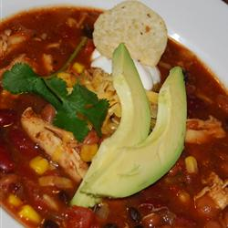 Slow Cooker Chicken Taco Soup | Faith, Hope, Love, and Luck Survive Despite a Whiskered Accomplice