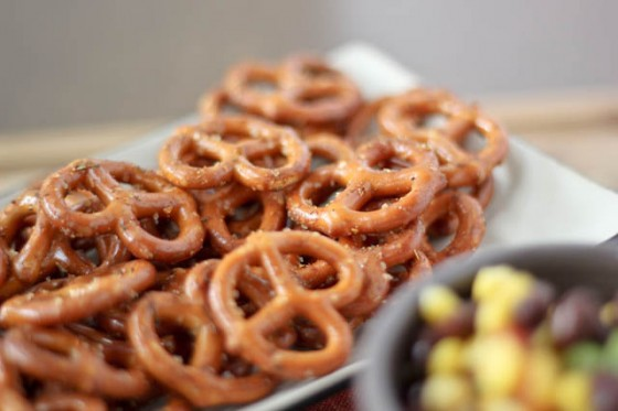 Taco Seasoned Pretzels | Faith, Hope, Love, and Luck Survive Despite a Whiskered Accomplice