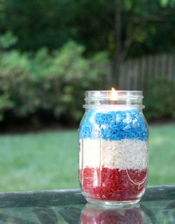 4th of July Votives | Faith, Hope, Love, and Luck Survive Despite a Whiskered Accomplice