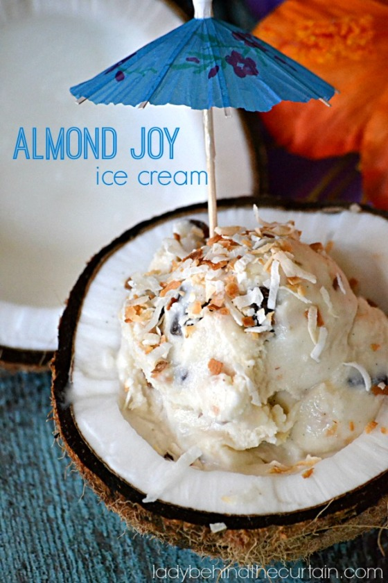 Almond Joy Ice Cream | Faith, Hope, Love, and Luck Survive Despite a Whiskered Accomplice