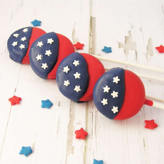 American Flag Oreo Pops | Faith, Hope, Love, and Luck Survive Despite a Whiskered Accomplice