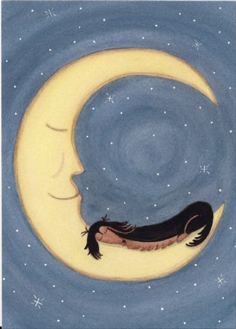 Black and Tan Longhaired Dachshund with Moon | Faith, Hope, Love, and Luck Survive Despite a Whiskered Accomplice