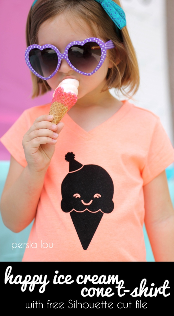 DIY Ice Cream Cone T-Shirt | Faith, Hope, Love, and Luck Survive Despite a Whiskered Accomplice