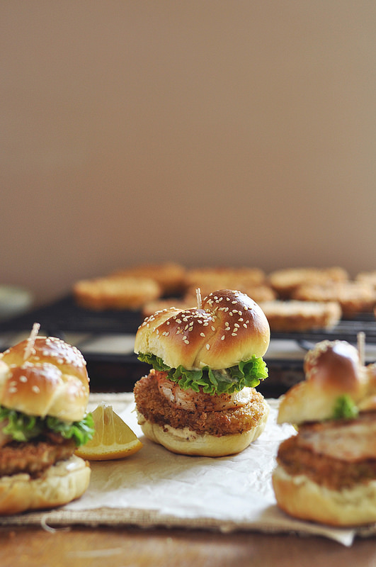 Fried Green Tomato and Shrimp Sliders | Faith, Hope, Love, and Luck Survive Despite a Whiskered Accomplice