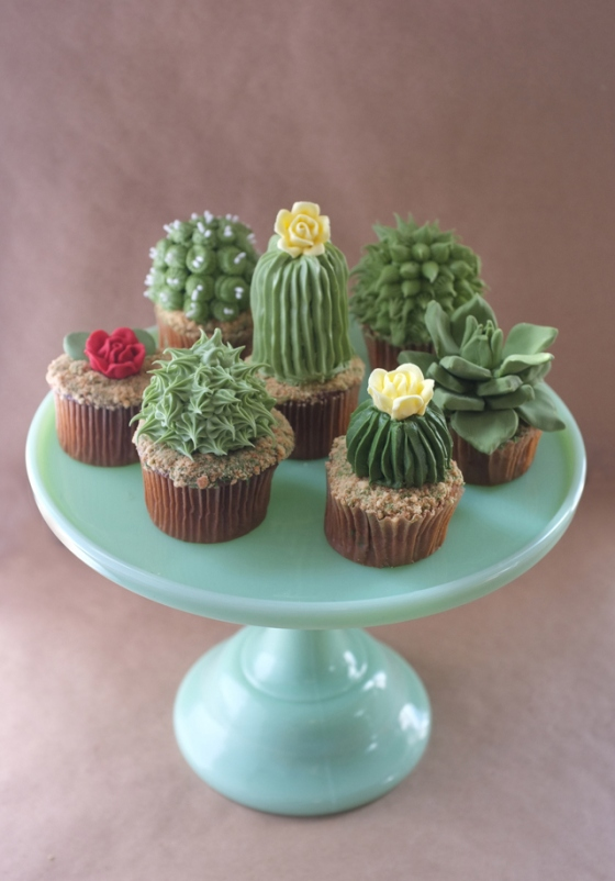 House Plant Cupcakes | Faith, Hope, Love, and Luck Survive Despite a Whiskered Accomplice