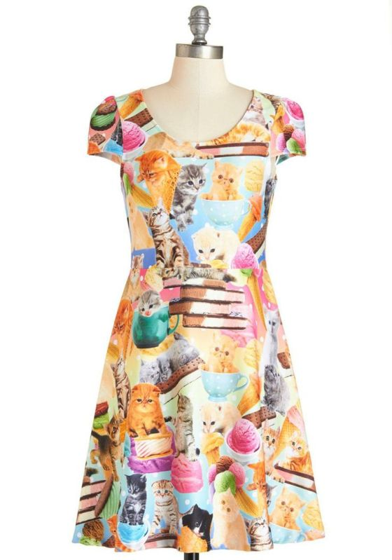 I Scream, Mew Scream Dress | Faith, Hope, Love, and Luck Survive Despite a Whiskered Accomplice