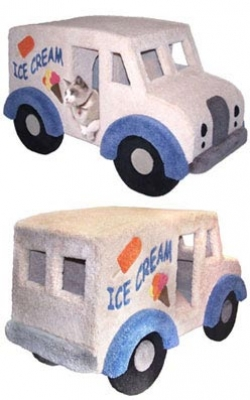 Ice Cream Truck Cat Condo | Faith, Hope, Love, and Luck Survive Despite a Whiskered Accomplice