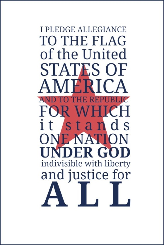 Pledge of Allegiance Free Printable | Faith, Hope, Love, and Luck Survive Despite a Whiskered Accomplice