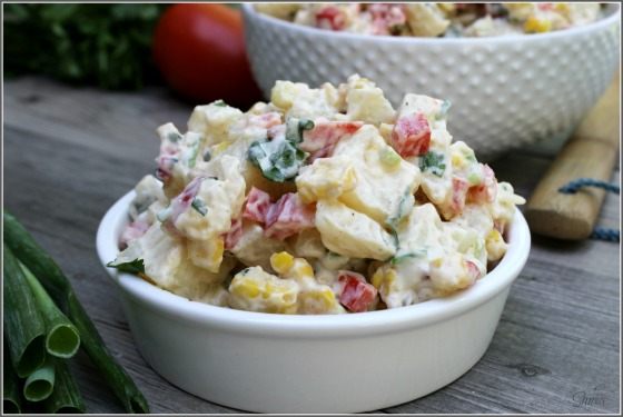 Southwestern Potato Salad | Faith, Hope, Love, and Luck Survive Despite a Whiskered Accomplice