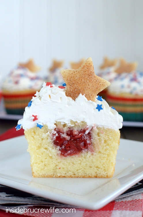 Vanilla Cherry Pie Cupcakes | Faith, Hope, Love, and Luck Survive Despite a Whiskered Accomplice