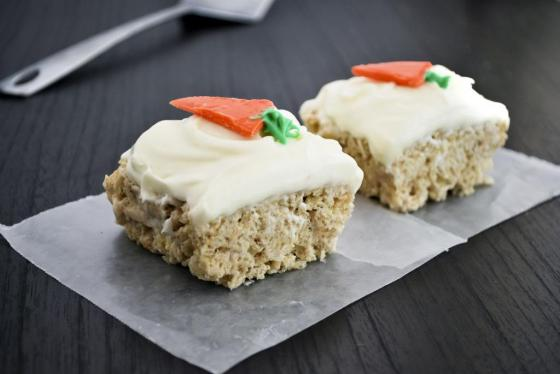 Carrot Cake Rice Krispy Treats | Faith, Hope, Love, and Luck Survive Despite a Whiskered Accomplice