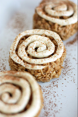 Cinnamon Roll Rice Krispie Treats | Faith, Hope, Love, and Luck Survive Despite a Whiskered Accomplice